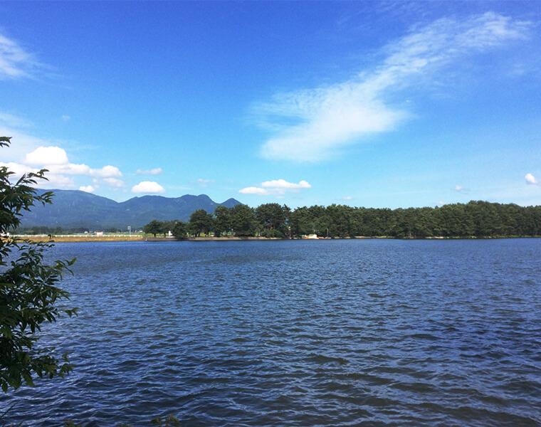 花笠踊りを生んだ白鳥の湖 徳良湖の四季の移ろい